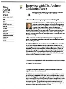 Blog About Pelvic Pain